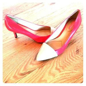 Isaac Mizrahi Red Patent Leather Heels 9